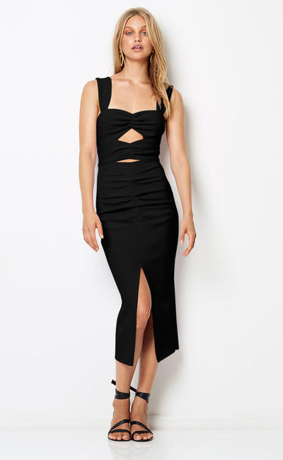 LILA CUT OUT DRESS - BLACK