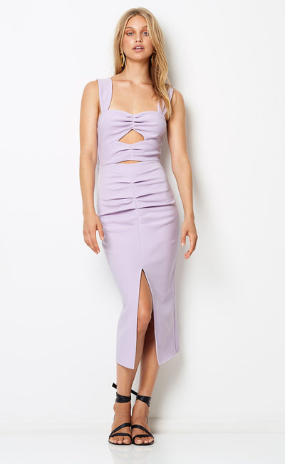 LILA CUT OUT DRESS - LILAC