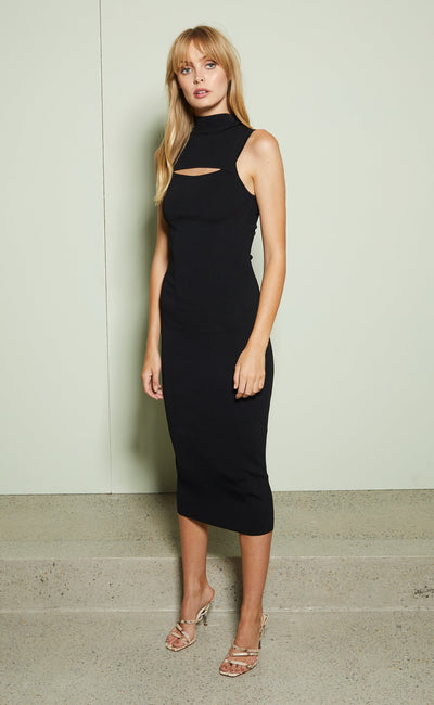 GEORGIE MIDI DRESS - BLACK