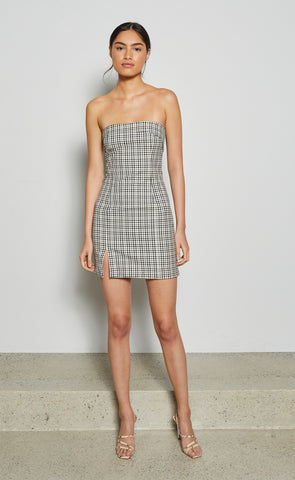 GINGHAM GIRL MINI DRESS - CHECK