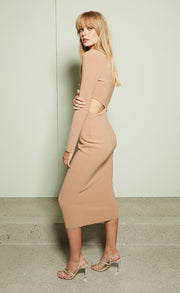 ELKE AYSM MIDI DRESS - CARAMEL