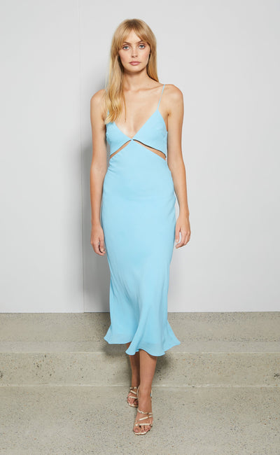 MARINE DREAMS MIDI DRESS - AQUA