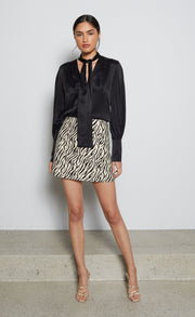 CECILE MINI SKIRT - ZEBRA