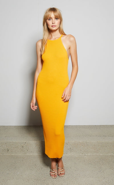 LENA MIDI DRESS - MANDARIN