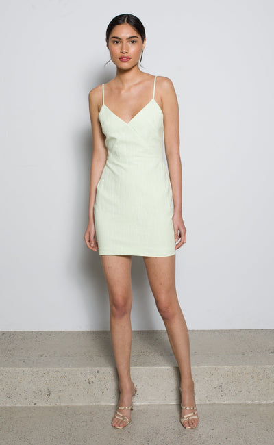 HARRIET MINI DRESS - AVOCADO