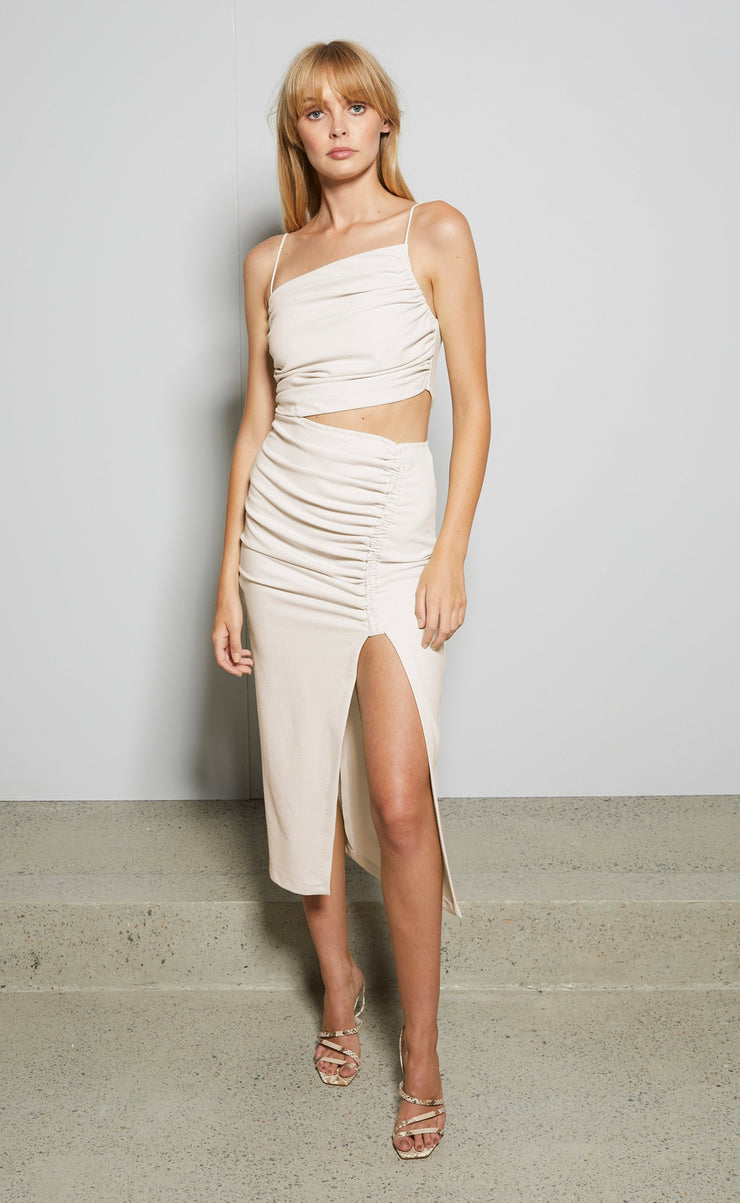 SOFIE MIDI DRESS - HIMALAYAN SALT