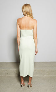 SOFIE STRAPLESS DRESS - AVOCADO