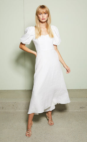 EVELYN MIDI DRESS - IVORY