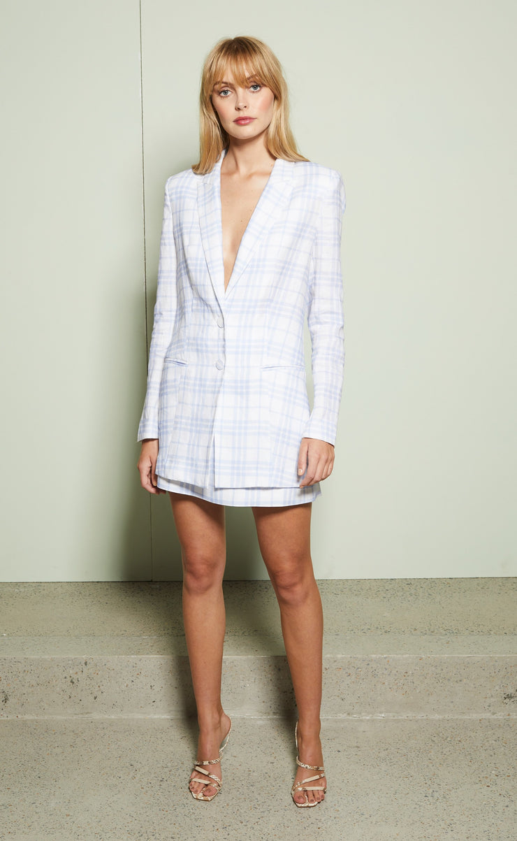ALEXA BLAZER - BLUE CHECK
