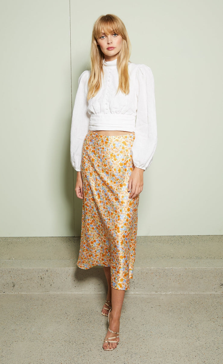 HEIDI FULL CIRCLE SKIRT  - SUNRAY FLORAL