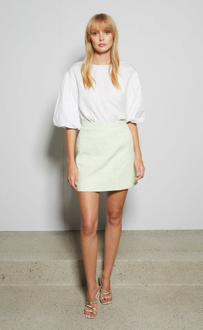 HARRIET MINI SKIRT - AVOCADO