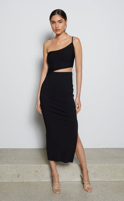 DARLING MIDI DRESS - BLACK