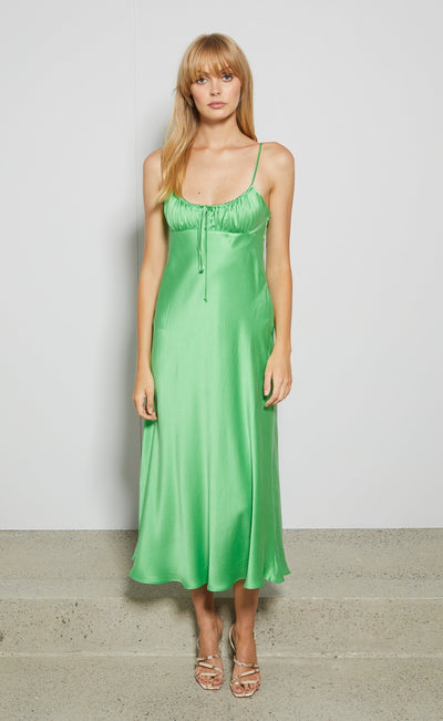 MARGARETA MIDI DRESS - SOUR APPLE