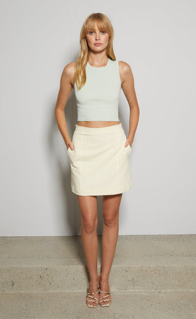ANA MINI SKIRT - BUTTER