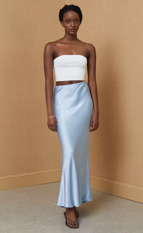 CITRUS SWEETIE MAXI SKIRT - SKY BLUE