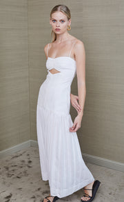 ROMANTIQUE MIDI DRESS - IVORY