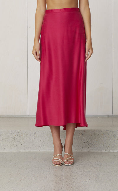 CLASSIC CIRCLE SKIRT - HOT PINK
