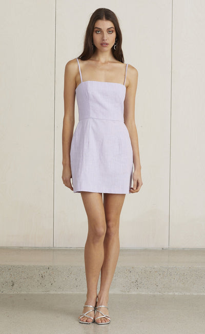 LOCO LAVENDER MINI DRESS - LAVENDER
