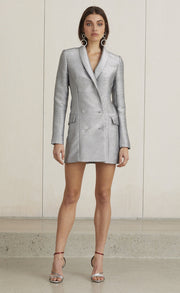 LADY SPARKLE BLAZER DRESS - METALLIC