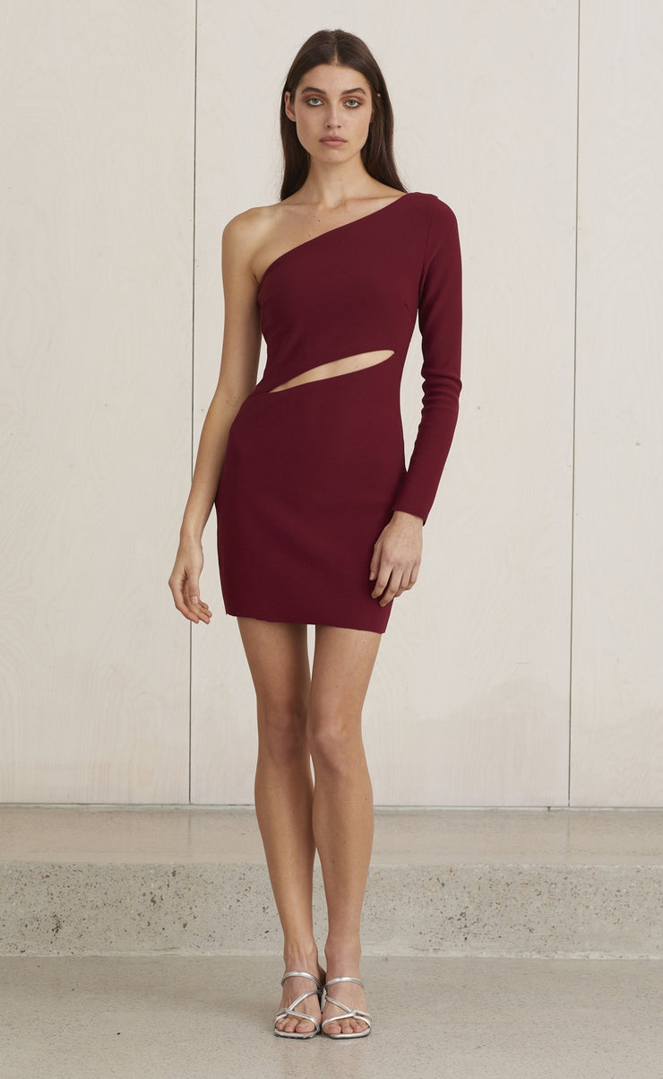 LEA MINI DRESS - BURGUNDY