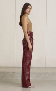 DISCO INFERNO PANT  - BURGUNDY