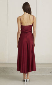 CLASSIC FULL CIRCLE SKIRT - BURGUNDY