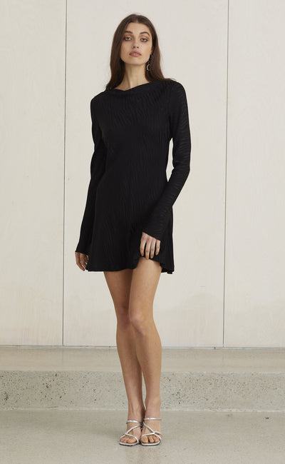 THE KAT MINI DRESS - BLACK