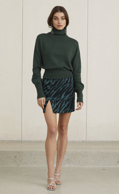 DISCOTHEQUE SKIRT - EMERALD ZEBRA