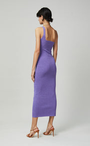 ADALANE ASYM KNIT MIDI DRESS - LAVENDER