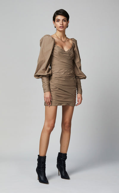 WINSLOWE MINI DRESS - MOCHA