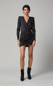 PARADIS LONG SLEEVE MINI DRESS - PRINT