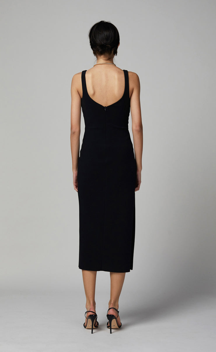 JOELLE MIDI DRESS - BLACK