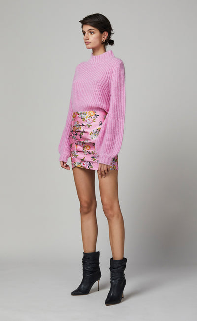 PEONY PARTY MINI SKIRT - PRINT