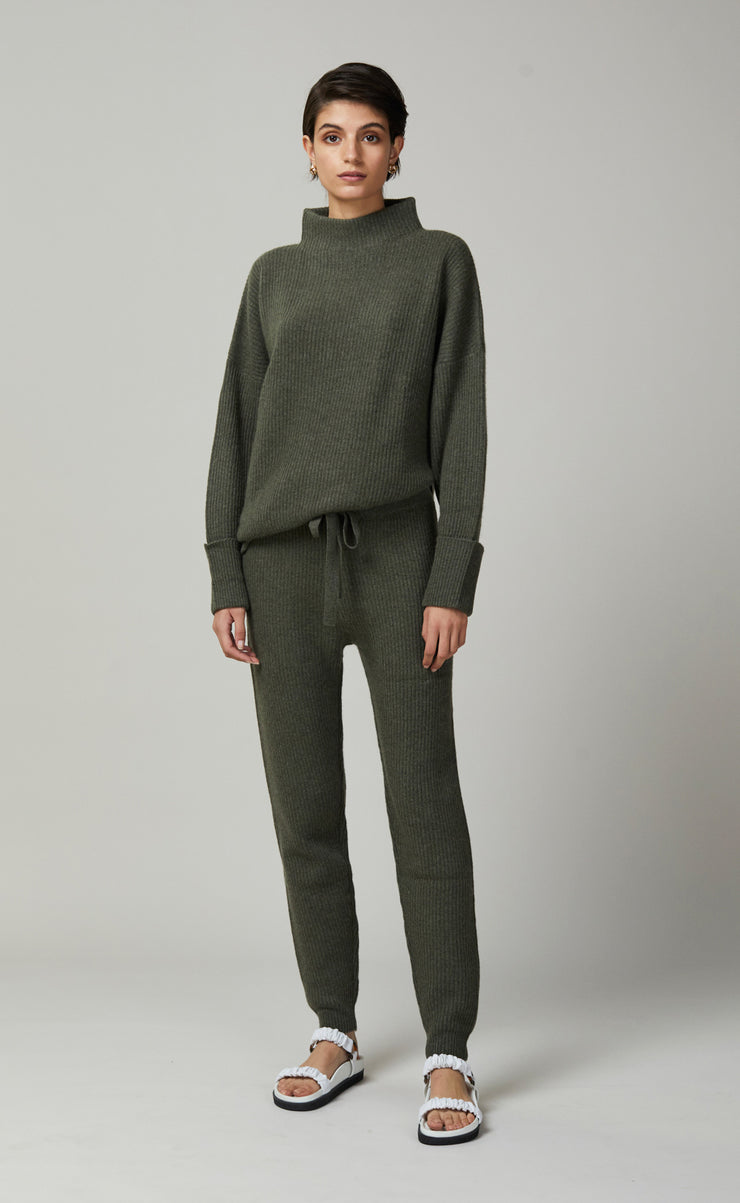 ANDIE SPLIT JUMPER - ARMY