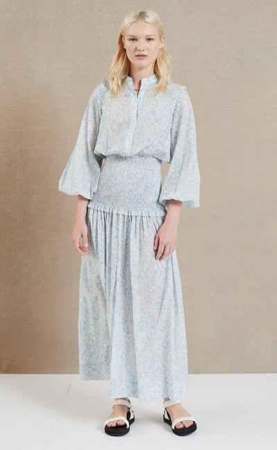 PASQUALINA LONG SLEEVE MAXI DRESS - PRINT