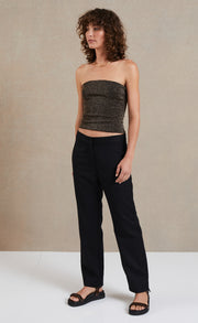 LADY LUREX KNIT TOP - BRONZE