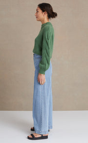 CELESTE KNIT JUMPER - JADE GREEN