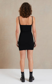 LYLA KNIT MINI DRESS - BLACK