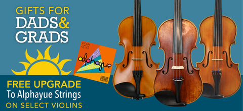 FREE upgrade to Alphayue strings with purchase of a violin from this selection of instruments.