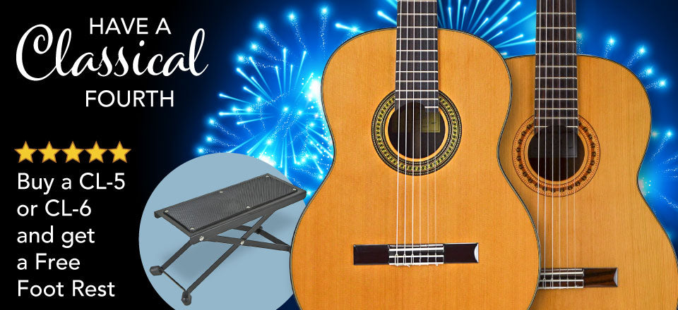 Free Footrest with purchase of Classical Guitar