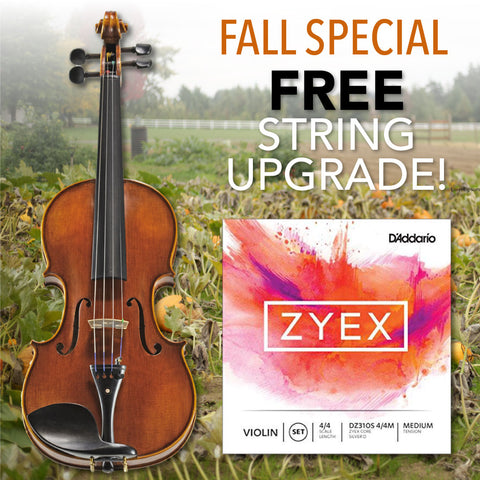 Zyex String Upgrade with Antonio Giuliani Purchase.