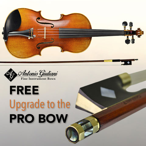 Free upgrade to the Antonio Giuliani Pro Bow with Purchase