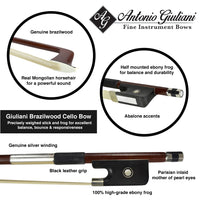 Giuliani Brazilwood Cello Bow