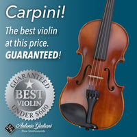 Fractional Louis Carpini G2 Violin Outfit