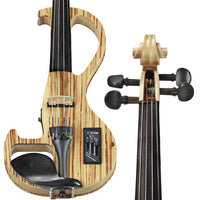 Bunnel EDGE Zebrano Electric Violin Outfit