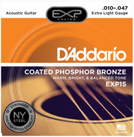 D'Addario EXP Phosphor Bronze Coated Extra Light 10-47 Guitar Strings