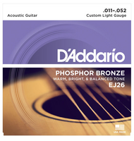 D'Addario Phosphor Bronze Custom Light 11-52 Guitar Strings
