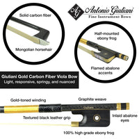 Giuliani Gold Carbon Fiber Viola Bow