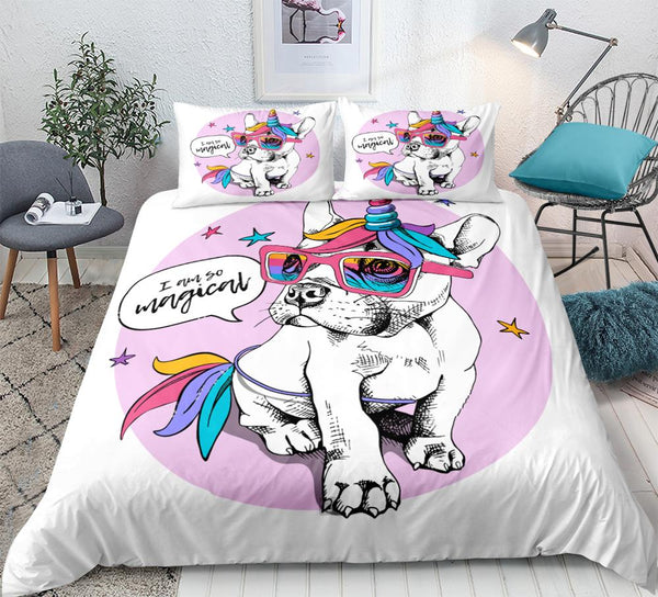 Unicorn Frenchie Bedding Set