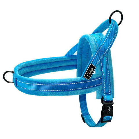 Image of Frenchie Velvet Harness Harness Custom Frenchie Store Blue L